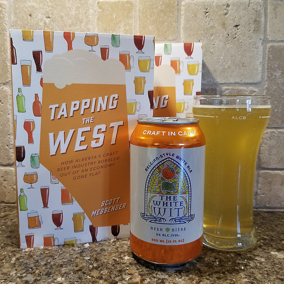 tapping the west and the white wit ale from something brewing